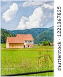 pastoral landscape in gutach...   Shutterstock . vector #1221367825