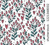 christmas seamless pattern with ... | Shutterstock .eps vector #1221368032