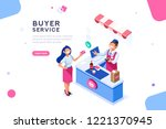 money and cashier. flat image...   Shutterstock .eps vector #1221370945