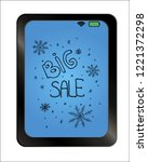 big sale offer text on... | Shutterstock .eps vector #1221372298