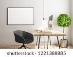 modern interior with designer... | Shutterstock . vector #1221388885