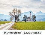 st. coloman church  ...   Shutterstock . vector #1221398668