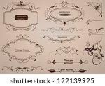 calligraphic design elements ... | Shutterstock .eps vector #122139925