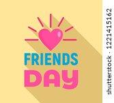 sunny heart friends day logo.... | Shutterstock .eps vector #1221415162