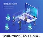 digital marketing management ...   Shutterstock .eps vector #1221416308