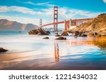 classic panoramic view of... | Shutterstock . vector #1221434032