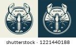 Vintage Sealife Round Emblem...