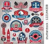 vintage frame college... | Shutterstock .eps vector #122144308