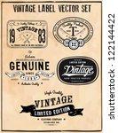vintage label vector set | Shutterstock .eps vector #122144422