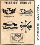 Stock vector vintage label vector set 122144452