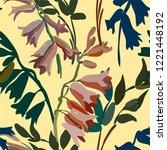 vintage floral seamless... | Shutterstock .eps vector #1221448192