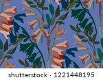 vintage floral seamless... | Shutterstock .eps vector #1221448195