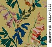 vintage floral seamless... | Shutterstock .eps vector #1221448222