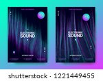 electronic music posters.... | Shutterstock .eps vector #1221449455