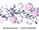 abstract flower seamless... | Shutterstock .eps vector #1221455668