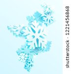 winter abstract background with ... | Shutterstock .eps vector #1221456868