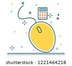 mouse line filled icon... | Shutterstock .eps vector #1221464218