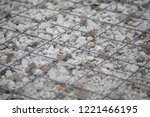 close up of pebble gravel... | Shutterstock . vector #1221466195