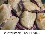 Raw Marinated Red Duck Meat Cu...