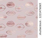 Lips. Rose Gold. Elegant...