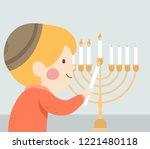 illustration of a kid boy... | Shutterstock .eps vector #1221480118