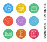 set of 9 icons  for web ... | Shutterstock .eps vector #1221482518