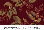 coffee tree seamless pattern ... | Shutterstock .eps vector #1221485482