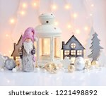 christmas composition with... | Shutterstock . vector #1221498892
