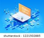 software  web development ... | Shutterstock .eps vector #1221502885