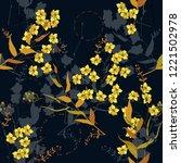 blooming  flowers. realistic... | Shutterstock .eps vector #1221502978