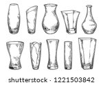 vase set. various forms of... | Shutterstock .eps vector #1221503842