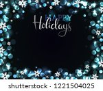 holiday party invitation with...   Shutterstock .eps vector #1221504025
