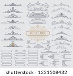 kit of vintage elements for... | Shutterstock .eps vector #1221508432
