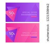 web banner design template.... | Shutterstock .eps vector #1221508462