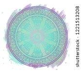 dharma wheel  dharmachakra.... | Shutterstock .eps vector #1221513208