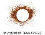 White Circle Of Spice Powder On ...