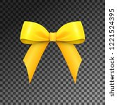 realistic shiny yellow satin... | Shutterstock .eps vector #1221524395