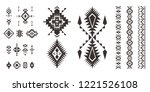 set of tribal decorative... | Shutterstock .eps vector #1221526108