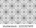 flower geometric pattern.... | Shutterstock . vector #1221527695