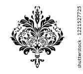 damask graphic ornament. floral ... | Shutterstock . vector #1221527725