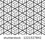 the geometric pattern with... | Shutterstock . vector #1221527842