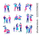 family spend time together ... | Shutterstock .eps vector #1221533632