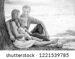 happy family on nature in the... | Shutterstock . vector #1221539785