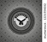 crossed pistols icon inside...   Shutterstock .eps vector #1221554032