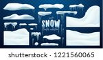 vector collection of snow caps  ... | Shutterstock .eps vector #1221560065
