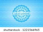 caravanning water concept badge ...   Shutterstock .eps vector #1221566965