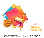 white poster or greeting card... | Shutterstock .eps vector #1221567595