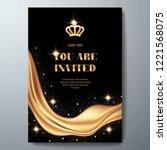 vip invitation template with... | Shutterstock .eps vector #1221568075