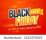 sticker style text black friday ... | Shutterstock .eps vector #1221573325