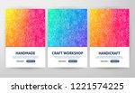handmade flyer concepts. vector ... | Shutterstock .eps vector #1221574225